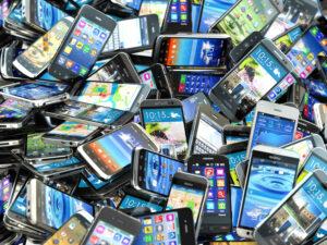 stapel telefoons